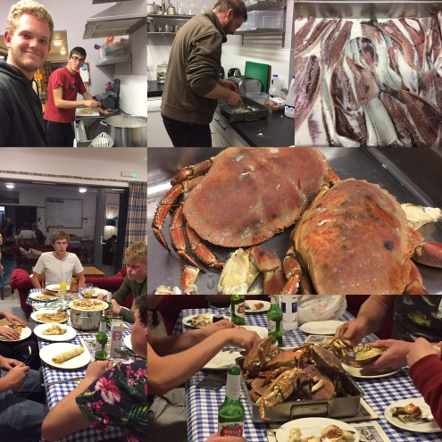 Seafood fest cooked by students