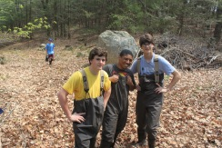 River stocking crew